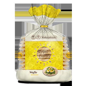 Duże Wafle Śniadaniowe Kukurydziane